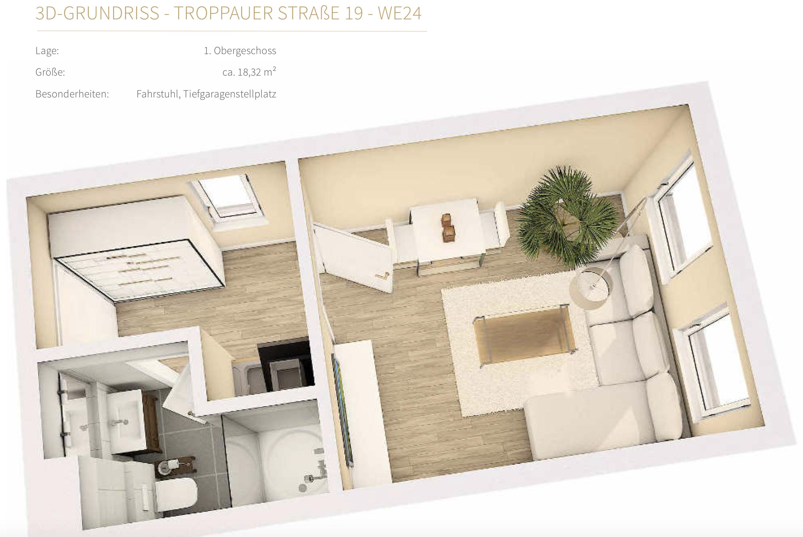 1 zimmer wohnung im 1 obergeschoss immoanteil24. Black Bedroom Furniture Sets. Home Design Ideas